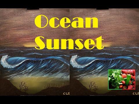 Speed Painting #19: Ocean Sunset
