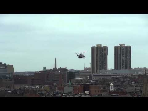 Nuclear patrol helicopter checks Boston Marathon for radioactivity