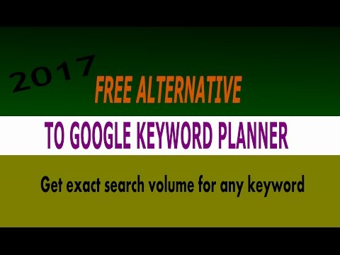 google keyword planner alternative 2017 - free tool displays exact search volume for any keyword