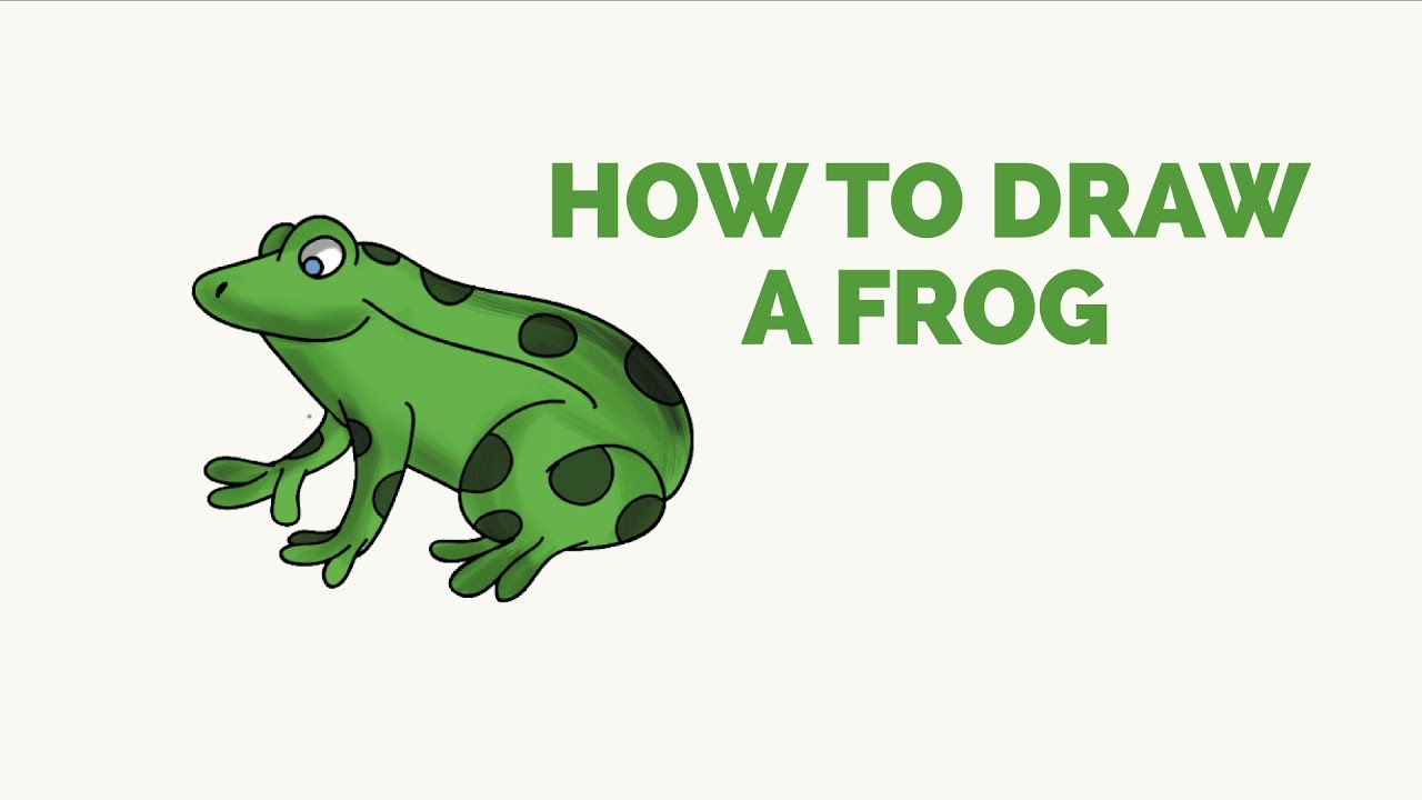 How to Draw a Frog - Easy Step-by-Step Drawing Tutorial ...