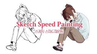스케치 스피드페인팅 Sketch Speed painting with CLIP STUDIO