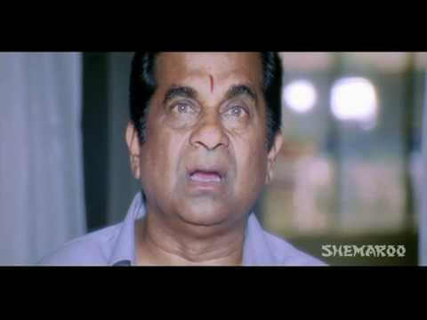 Ready Comedy - Ram explains Brahmi about his powers (Genelia D'Souza)