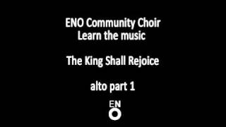 The King Shall Rejoice - alto