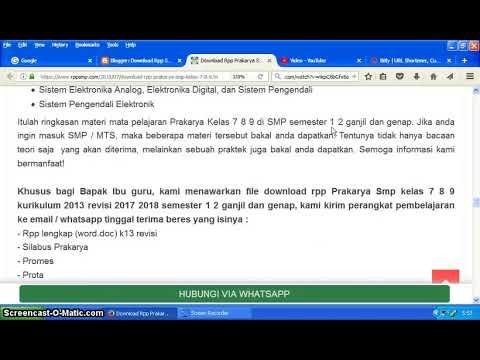 Rpp Prakarya Smp Kelas 7 8 9 Kurikulum 2013 Revisi 2017 2018 Youtube