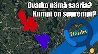 Suomen suurimmat saaret eivät ole saaria? // The Largest islands in Finland are not islands?