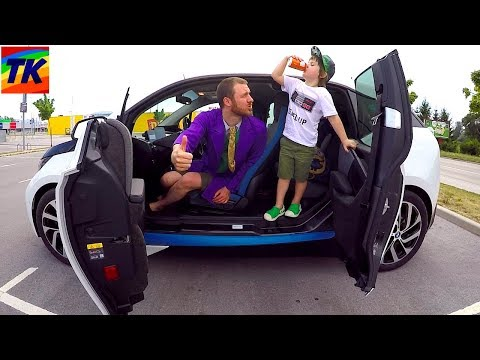 I'm Driving in My Car Song | Tim & Dad Ride on BMWi3 Electric Car with TimKo Kid