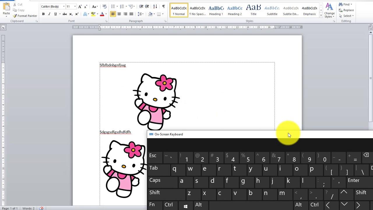 cara memasukkan gambar di dalam ms word - YouTube