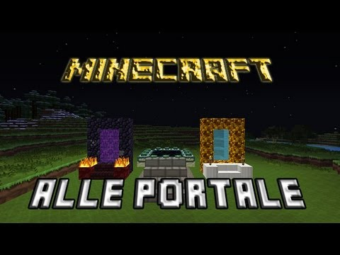 minecraft alle portale bauen erkl rung nether end und aetherportal youtube. Black Bedroom Furniture Sets. Home Design Ideas