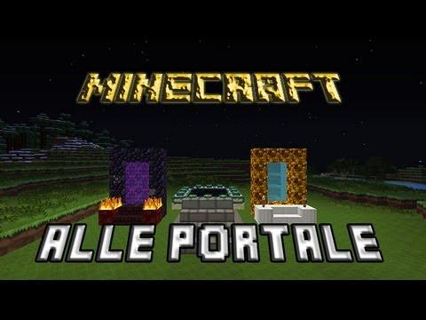 Minecraft Alle Portale Bauen+Erklärung [Nether,End- Und Aetherportal]