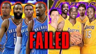 10 NBA Superteams That FAILED Miserably