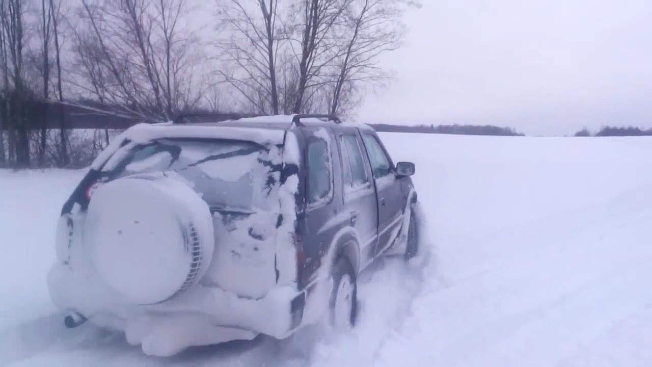 опель фронтера на снегу