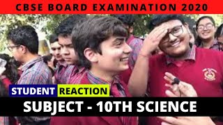 CBSE Board Exam 2020 | Class 10th Science | Live Student Reactions
