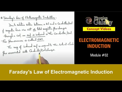 2. Physics | Electromagnetic Induction | Faraday's Law of Electromagnetic Induction | Ashish Arora