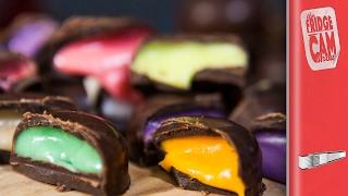DIY Rainbow Chocolate Drops | FridgeCam
