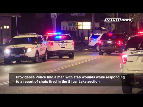 VIDEO NOW: Police find a man stabbed after gunshots are reported in Providence