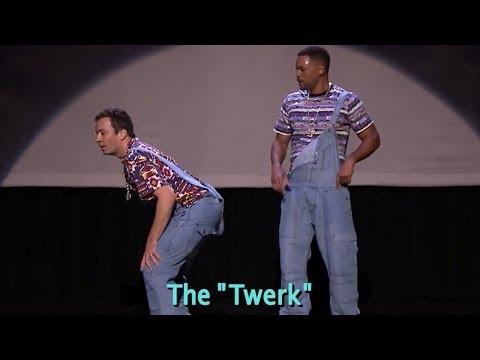 "Jimmy Fallon Twerks on Will Smith ""Evolution of Hip Hop Dancing"" Tonight Show Video!"