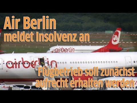 Air Berlin: Zweitgrößte deutsche Fluggesellschaft meldet Insolvenz an