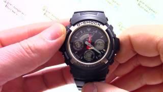 Годинник Casio G-SHOCK AW-590-1A [AW-590-1AER] - Відео огляд від PresidentWatches.Ru