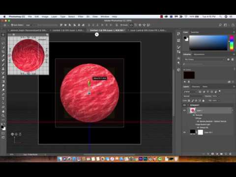 How to create planets and planet textures - Adobe Photoshop CC 2018