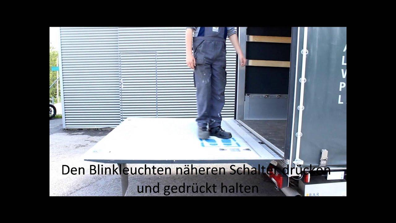 Fischerleitner Ried Bär Ladebordwand Waagrechtstellun einstellen ...