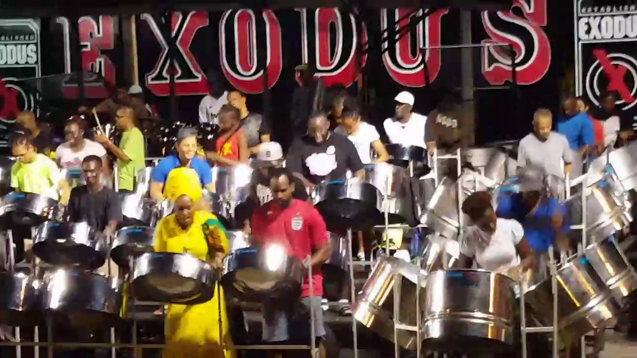 """Exodus Steel Pan Orchestra practicing """"Good Morning """" by"""
