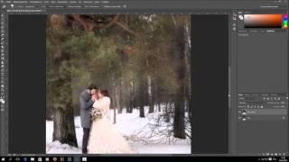 Видео-урок ретуши зимней свадебной фотографии