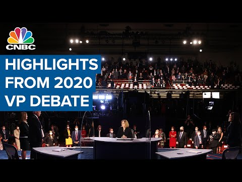 Here are the highlights from the 2020 Vice Presidential Debate