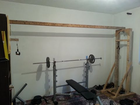 Homemade fitness equipment-cable crossover