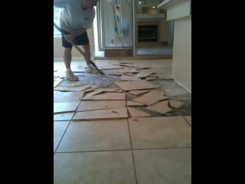 Tampa Florida Tented Tile Thinset Not Bonded To Slab Youtube