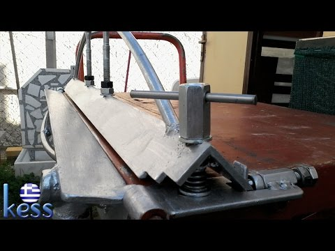 Sheet Metal Bender Brake DIY Fully Modified