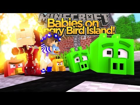 Minecraft Adventure - BABIES KILL CAPTAIN AMERICA & THE ANGRY BIRD PIGS!!!