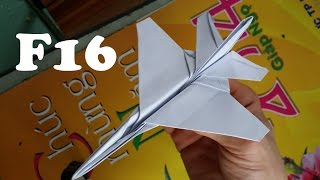 Origami: How to make an F16 Jet Fighter Plane