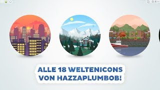 18 neue Weltenicons von HazzaPlumbob | sims-blog.de