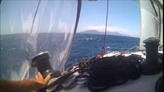 Sailing a lagoon 400 catamaran