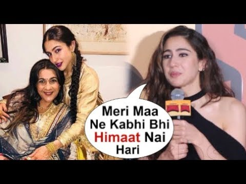 Sara Ali Khan's EMOTIONAL Reaction On Mom Amrita Singh At Simmba Movie Promotions