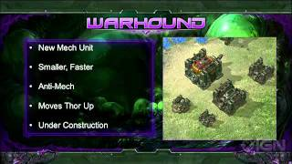 StarCraft 2: Heart of the Swarm: Warhound Gameplay