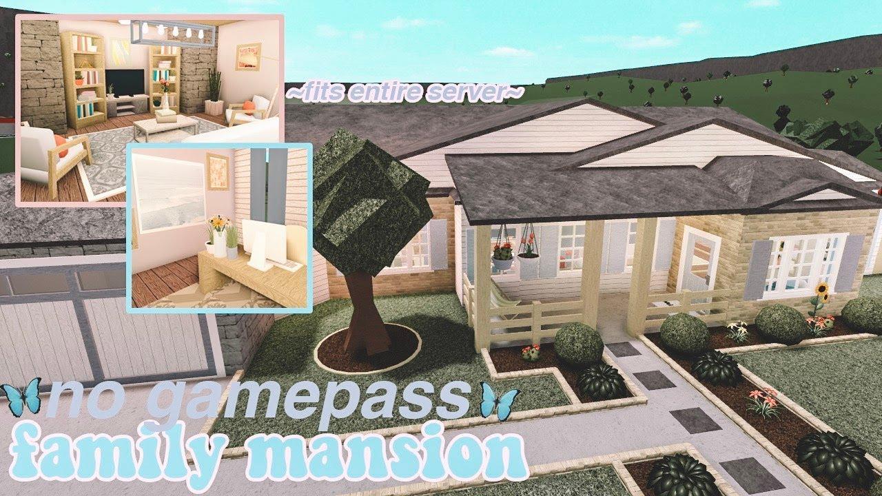Roblox Bloxburg No Gamepass Family Mansion Fits Entire Server