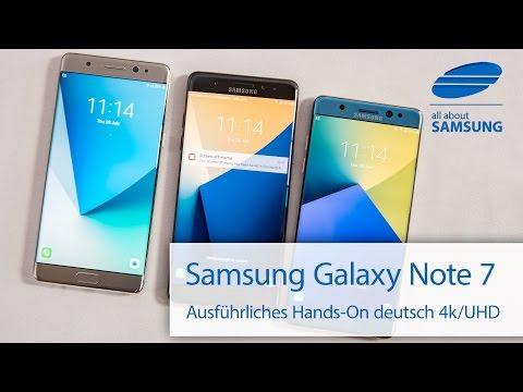 Samsung Galaxy Note 7 Hands On deutsch 4k UHD
