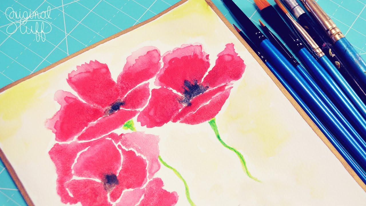 Pintando Flores Para Regalar Acuarelaswatercolor Día De Las
