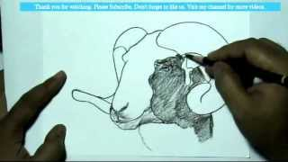 How to Draw a  Goat | YZArts | YZArts