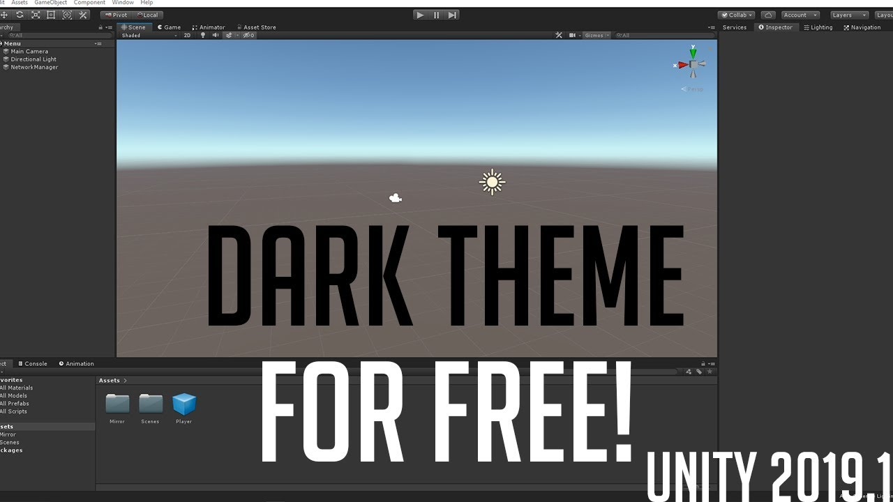 How to get unity dark theme for FREE! (Unity 2019 1)