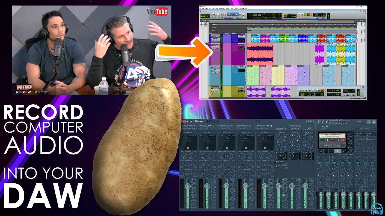 Record Computer/YouTube Audio into your DAW - Voicemeeter Potato