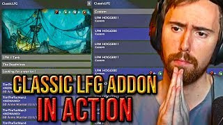 Asmongold Reacts To The Classiclfg Addon In Action - The Classic Experience At Risk