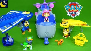 Paw Patrol Ultimate Hang Glider Air Rescue Rubble and Chase Skye Ultimate Rescue Helicopter Toys