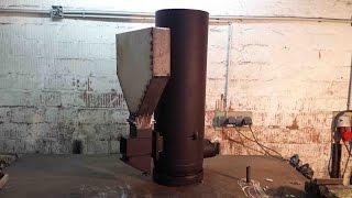 Hybrid-Raketenofen: Umbau des alten Ofens / Hybrid-Rocket Stove
