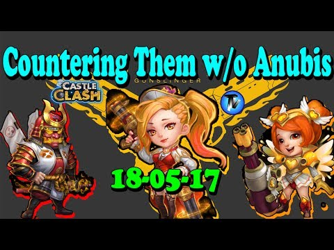 Castle Clash - #1 Countering MAXD GunSlinger, Ronin, HeartBreaker In GW (1st Bracket) Without Anubis