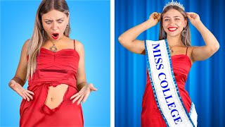 Good Student vs Bad Student! Beauty Pageant at College!