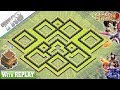 Gambar cover NEW Town Hall 8 TH8 Base 2019 with REPLAY!! TH8 Base Anti Dragons - Clash of Clans