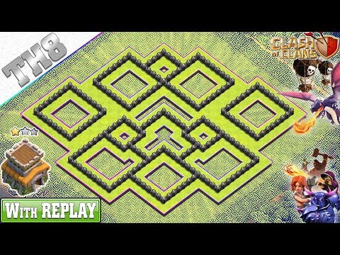 NEW Town Hall 8 (TH8) Base 2019 With REPLAY!! TH8 Base Anti Dragons - Clash Of Clans