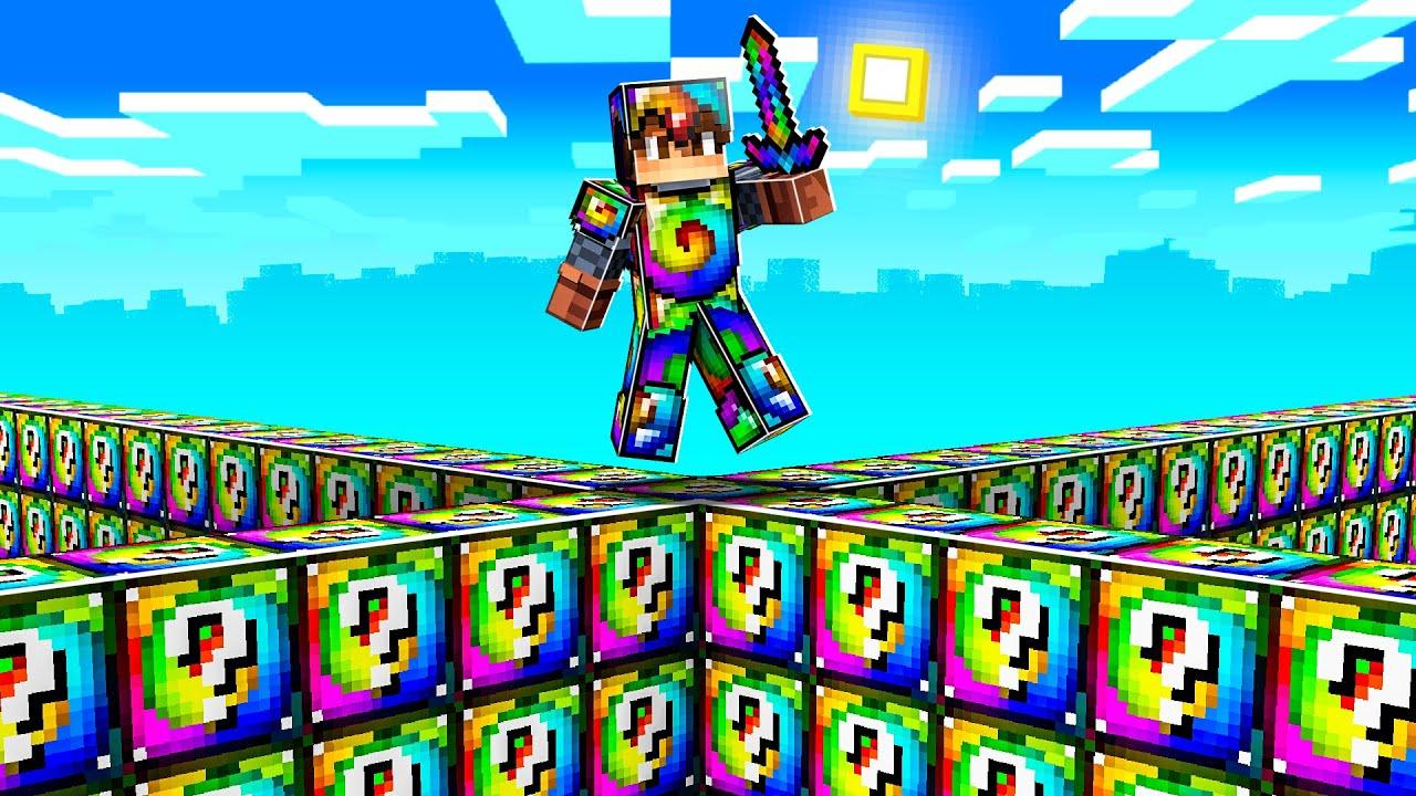 RAINBOW LUCKY BLOCK WALLS in Minecraft!